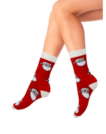 Женские носки Mademoiselle WM-8192 (санта, высокие)